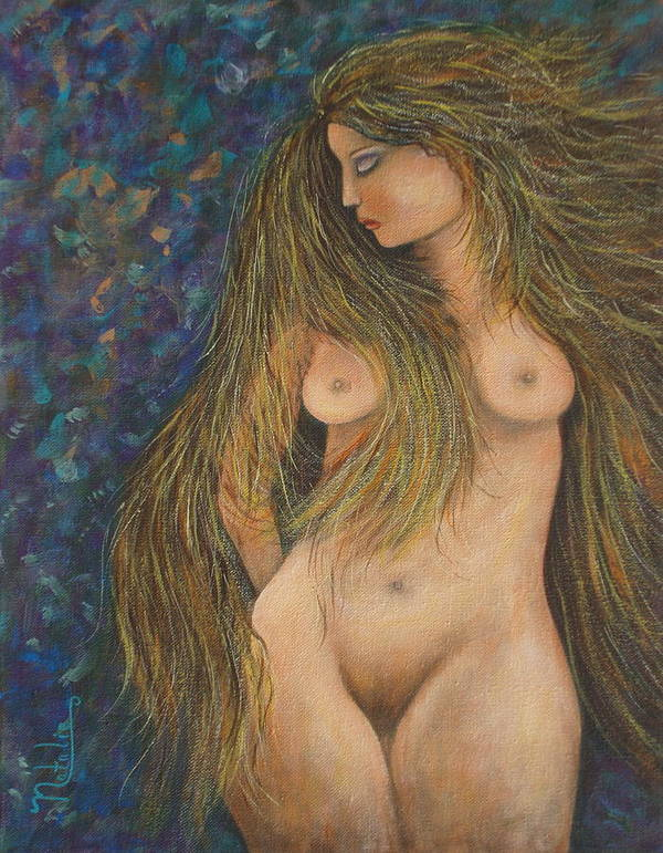 Woman Art Print featuring the painting Valencina by Natalie Holland
