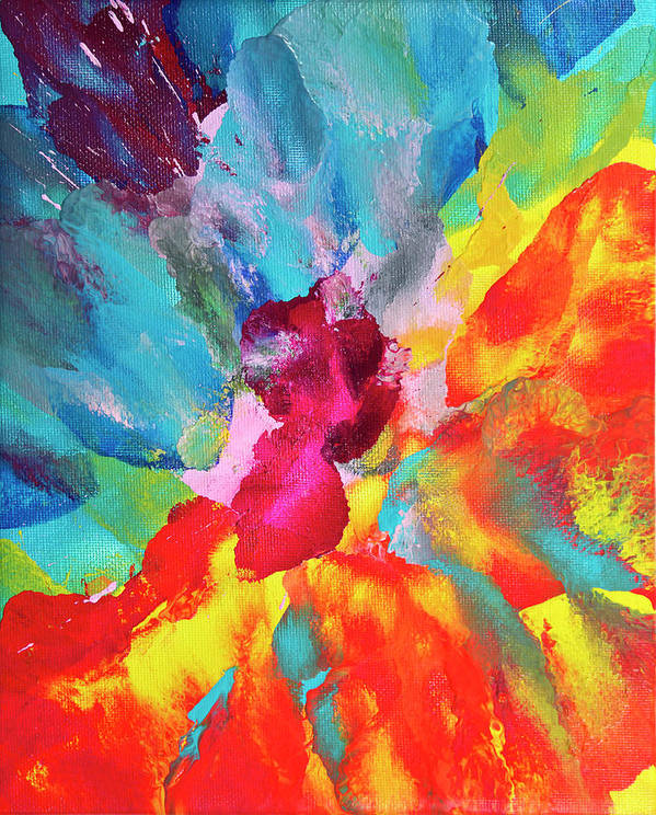 Art Art Print featuring the digital art Vivid Multicolored Abstract Art On by Cstar55