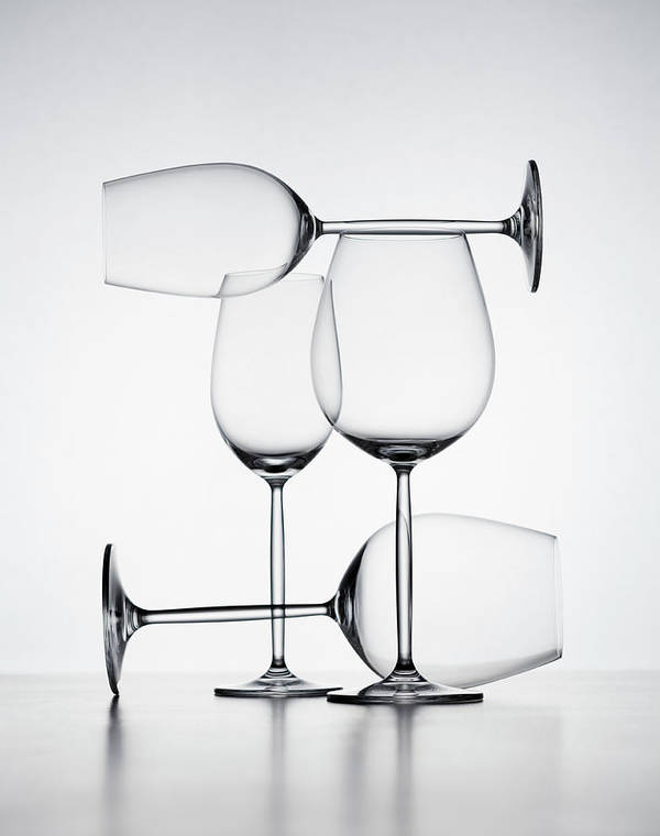 Empty Art Print featuring the photograph Wine Glasses by Jorg Greuel