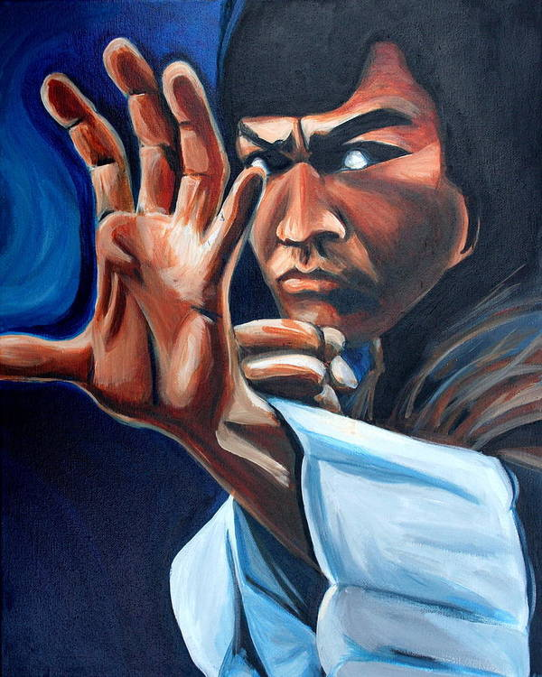 Art Print featuring the painting Bruce Lee by Kate Fortin