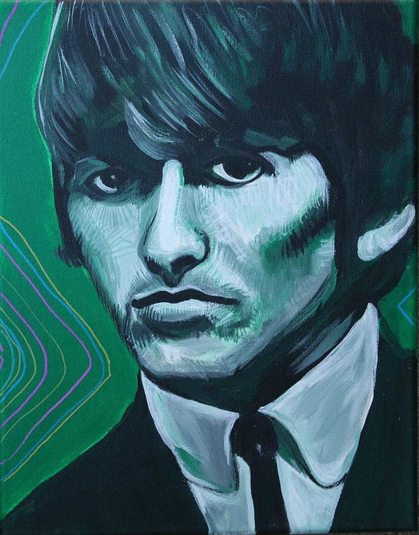 Beatles Art Print featuring the painting George Harrison by Kate Fortin