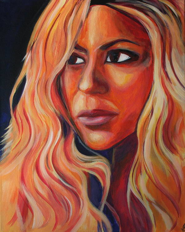 Art Print featuring the painting Shakira by Kate Fortin