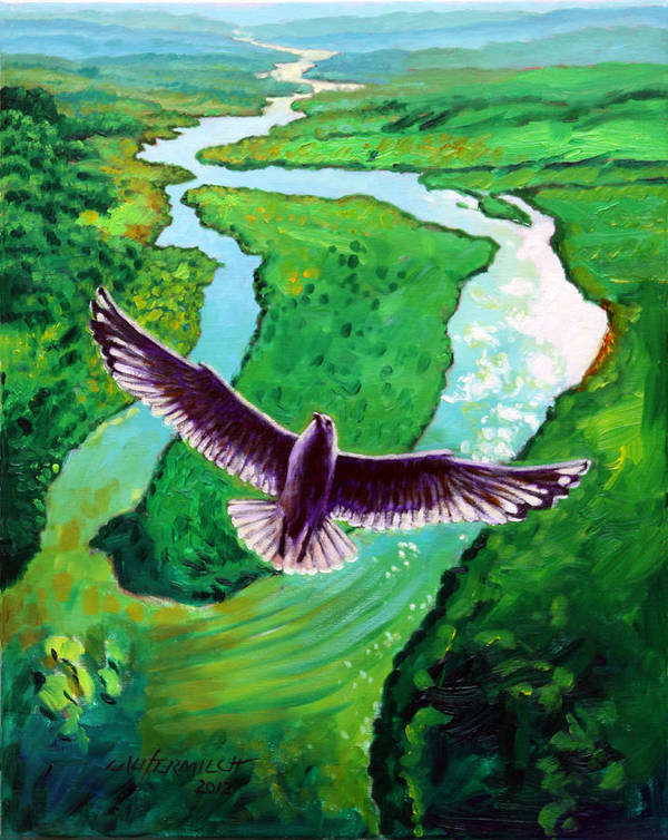Seagull Art Print featuring the painting Spiritually Minded by John Lautermilch