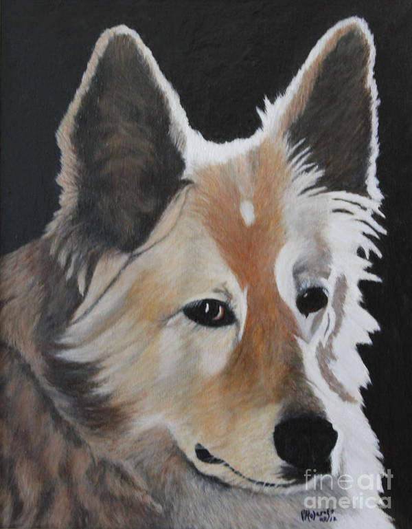 Dog Art Print featuring the painting Springer by Peggy Holcroft