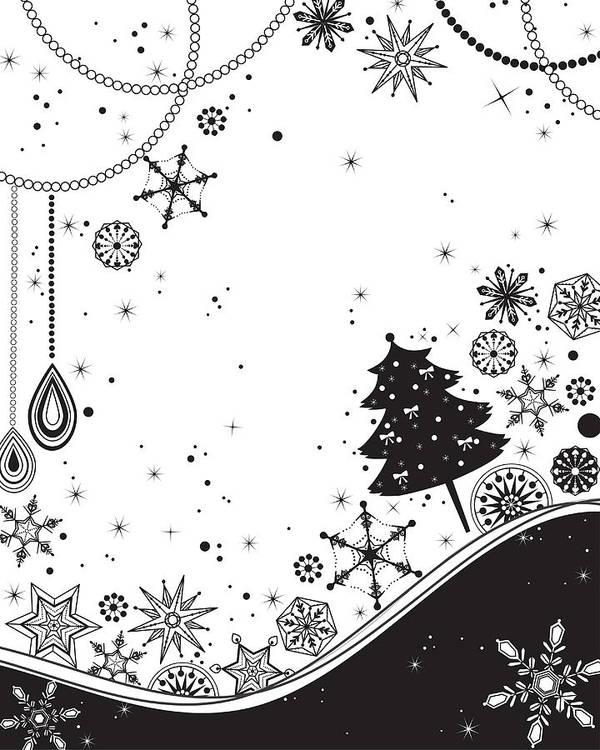 Vertical Art Print featuring the digital art Various Plants Patterns by Eastnine Inc.