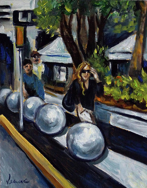 Sobe Art Print featuring the painting Lincoln Road by Valerie Vescovi