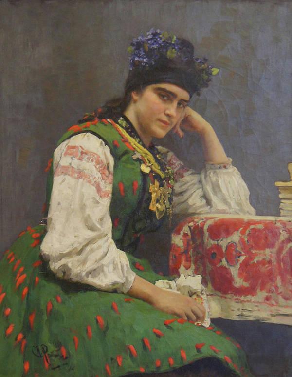 Ilya Repin Art Print featuring the painting Portrait Of Sophia Dragomirova by Ilya Repin
