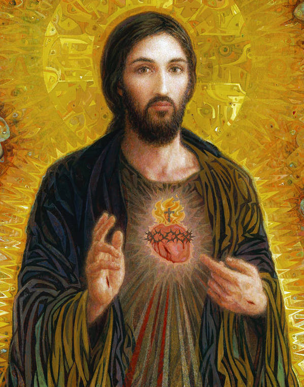 Christ Art Print featuring the painting Sacred Heart of Jesus by Smith Catholic Art