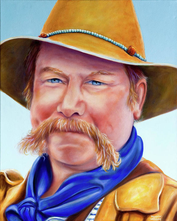 Man Art Print featuring the painting Santana Jack by Shannon Grissom