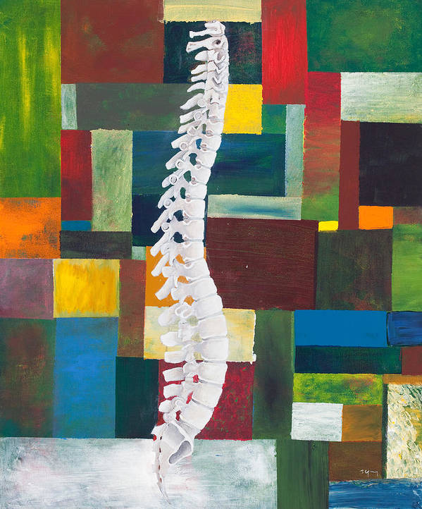 Chiropractic Art Print featuring the painting Spine by Sara Young
