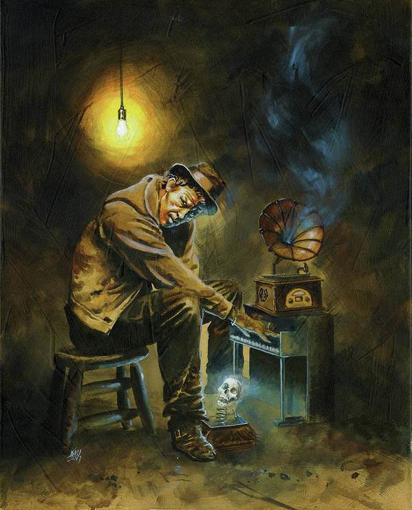 Tom Waits Art Print featuring the painting Tom Waits by Ken Meyer jr
