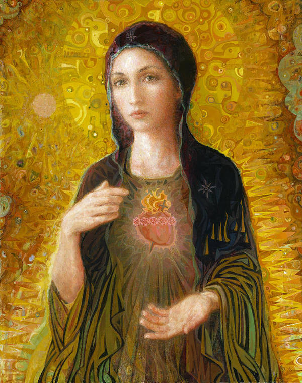Mary Art Print featuring the painting Immaculate Heart of Mary by Smith Catholic Art