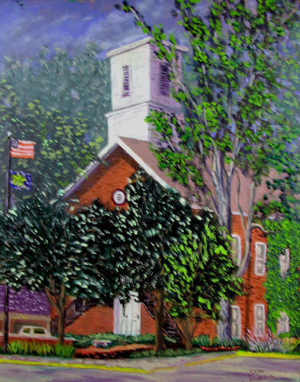 Plein Air Art Print featuring the painting Nashville Court House by Stan Hamilton