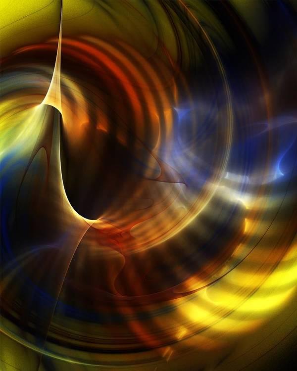 Fine Art Art Print featuring the digital art Abstract 040511 by David Lane