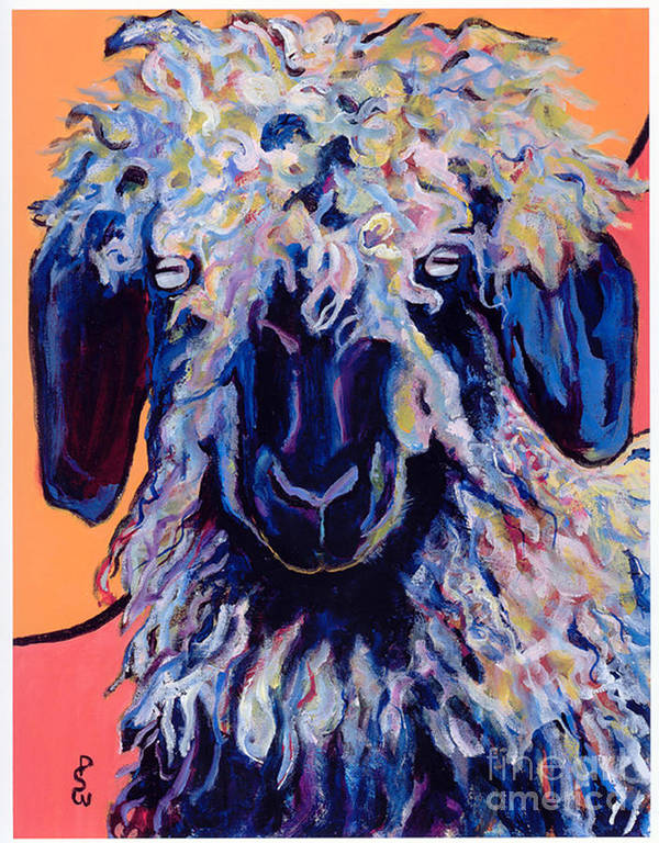Goat Print Art Print featuring the painting Adelita  by Pat Saunders-White