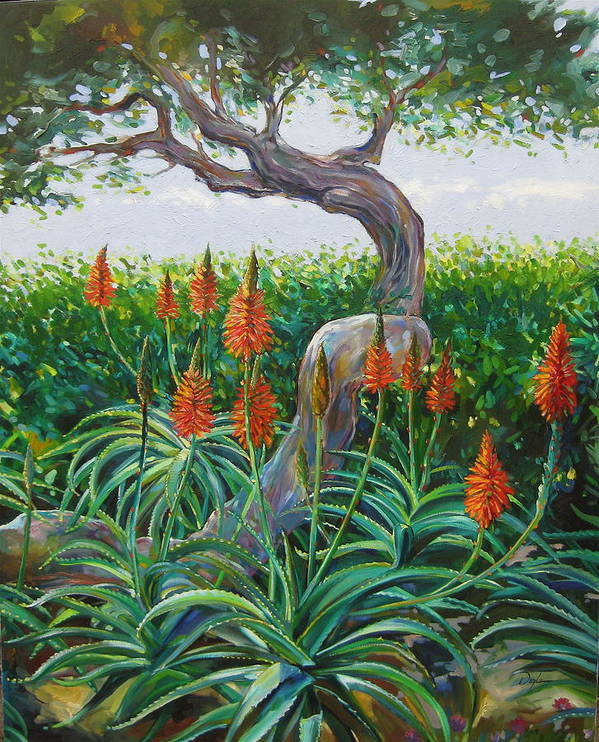 Botanical Art Print featuring the painting Aloe Vera by Karen Doyle