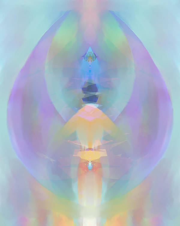 Ascension Art Print featuring the digital art Ascension by Peter Shor