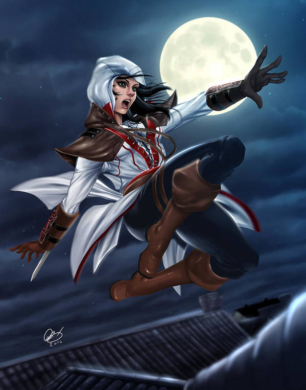 Assassin S Creed Art Print By Pete Tapang