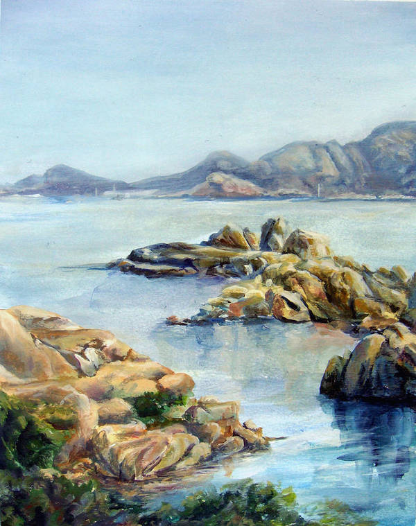 Landscape Art Print featuring the painting Baie by Muriel Dolemieux