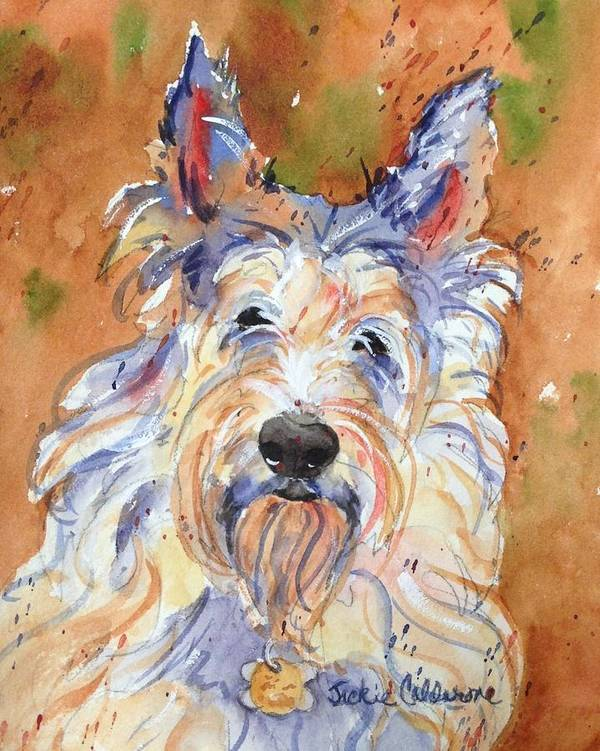 Watercolor Painting Art Print featuring the painting Berger Picard by Jackie Calderone
