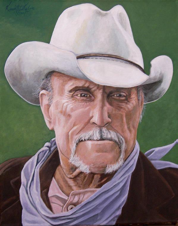 Cowboy Art Print featuring the print Boss Spearman 2 by Kenneth Kelsoe