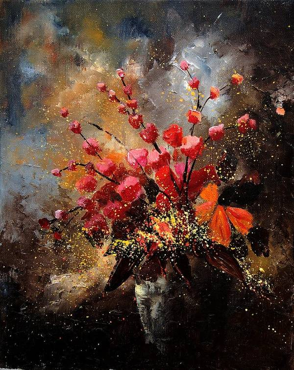 Poppies Art Print featuring the painting Bunch 1207 by Pol Ledent