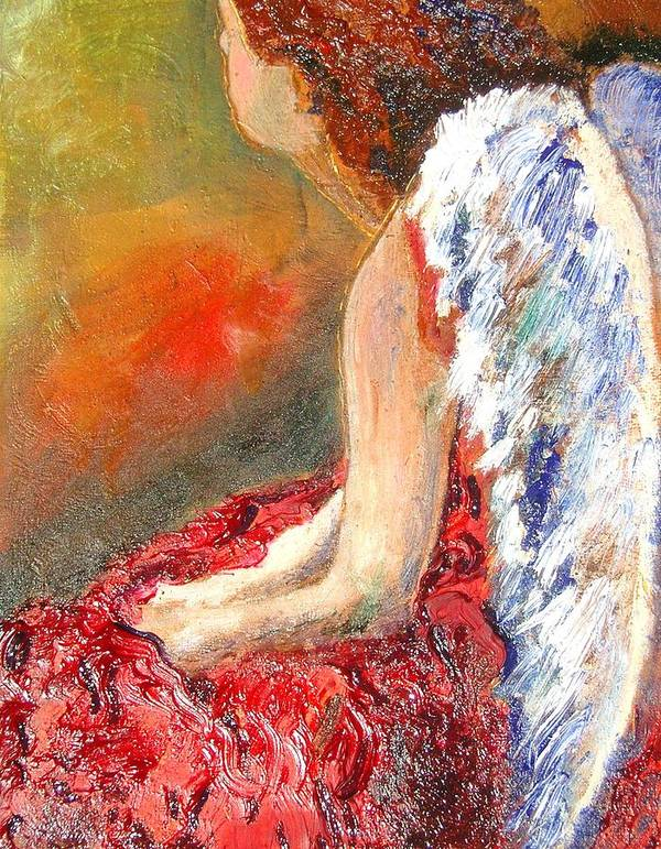 Angels Art Print featuring the painting Clarity Of Thought by J Bauer
