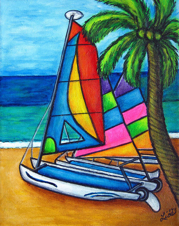 Water Art Print featuring the painting Colourful Hobby by Lisa Lorenz