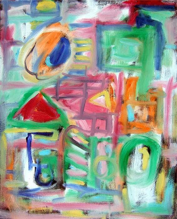 Abstract Art Print featuring the painting Composition No. 6 by Michael Henderson