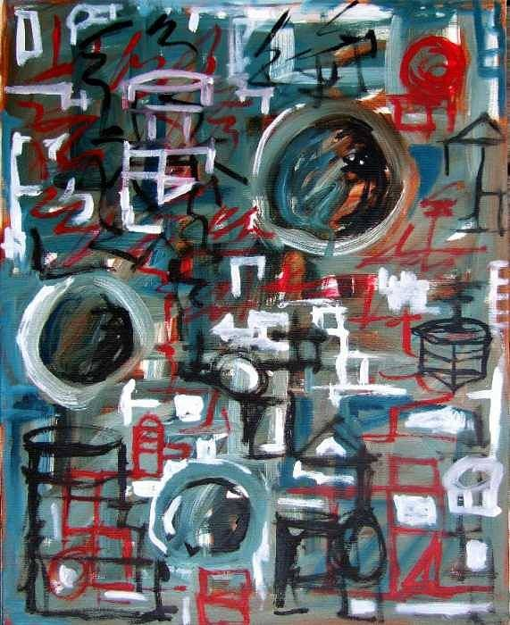 Abstract Art Print featuring the painting Composition No 9 by Michael Henderson