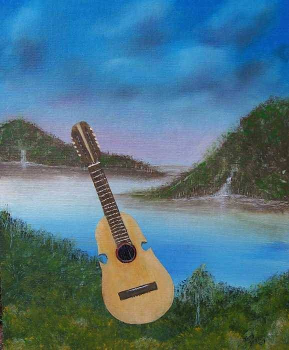Cuatro Series Art Print featuring the painting Cuatro by Tony Rodriguez