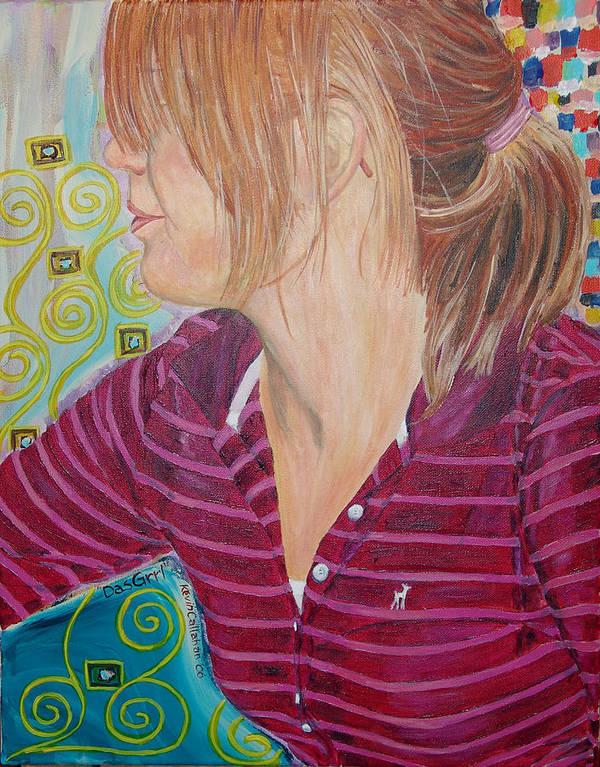 Kevin Callahan Art Print featuring the painting Das Girl by Kevin Callahan