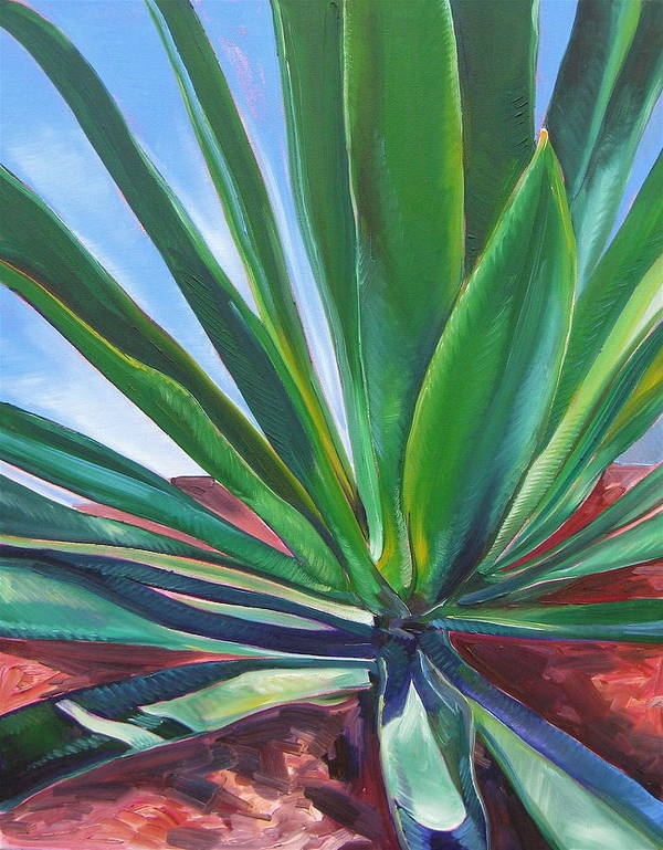 Botanical Art Print featuring the painting Desert Plant by Karen Doyle