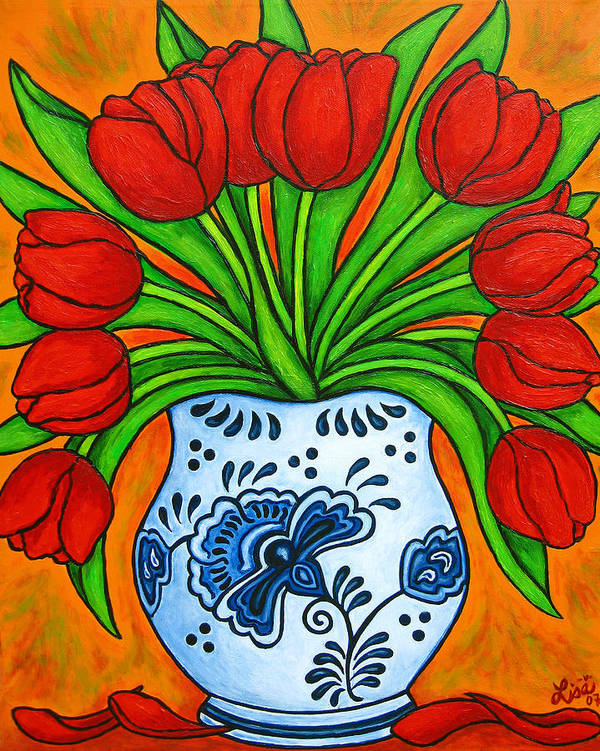 White Art Print featuring the painting Dutch Delight by Lisa Lorenz