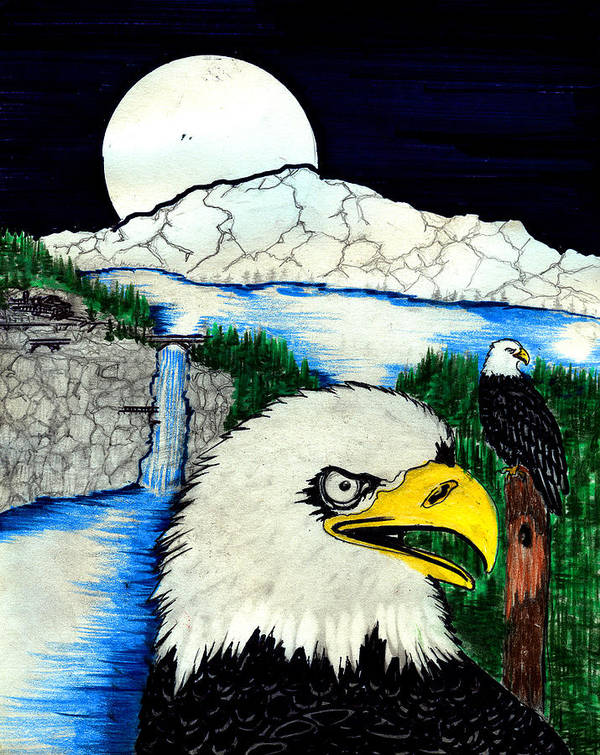 Art Print featuring the painting Eagle's Lair by Harry Richards