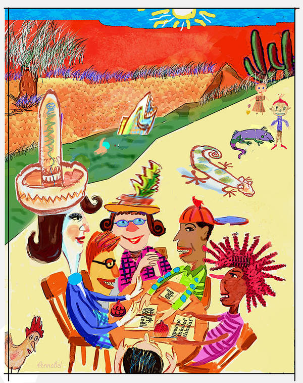 Children's Art Print featuring the digital art Field Trip by Annabel Lee