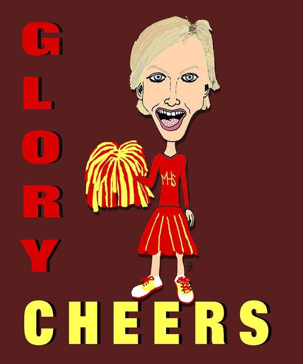 Glory Cheers Art Print featuring the drawing Glory Cheers by Pharris Art