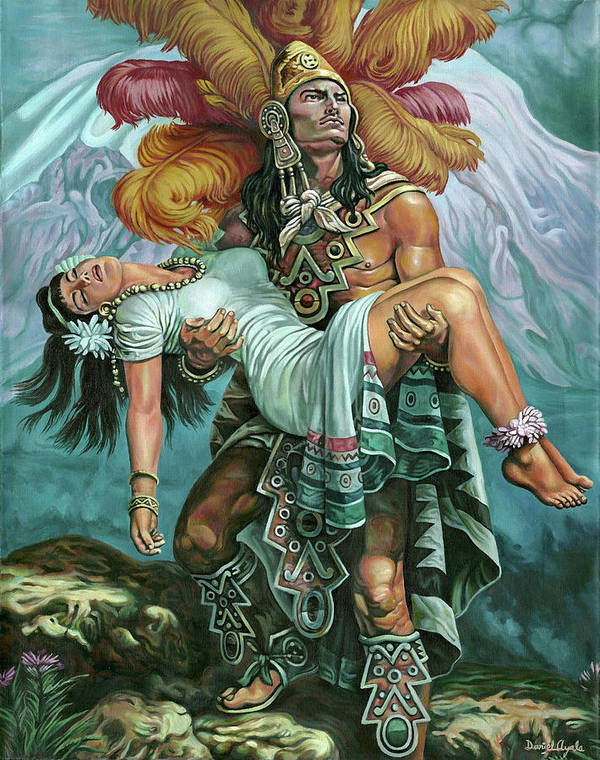 Indian Art Print featuring the painting Grandeza Azteca by Daniel Ayala