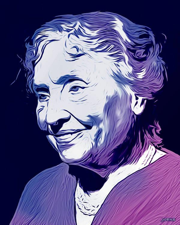 Helen Keller Art Print by Greg Joens