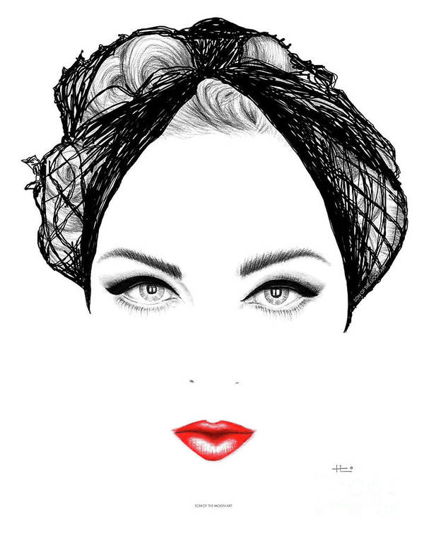 Madonna Art Print featuring the drawing Hosewife, Fabulos Bitch by Son Of the Moon