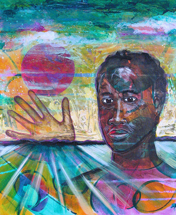 African-american Art Print featuring the painting If I... by Rollin Kocsis