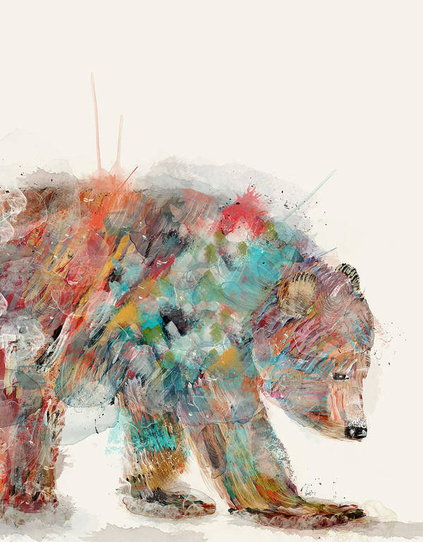 In Nature Bear Art Print
