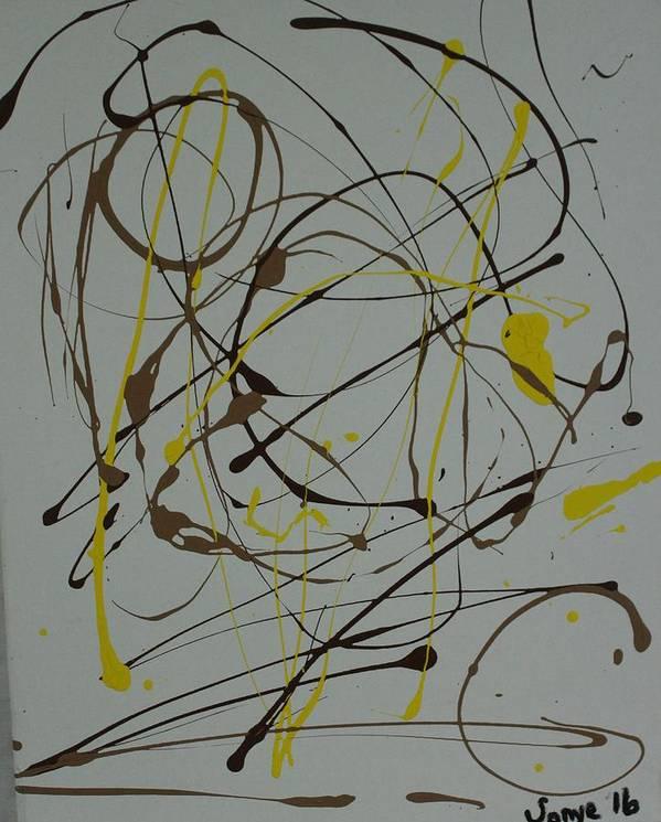 Spiritual Art Print featuring the painting Inner G by Sonye Locksmith