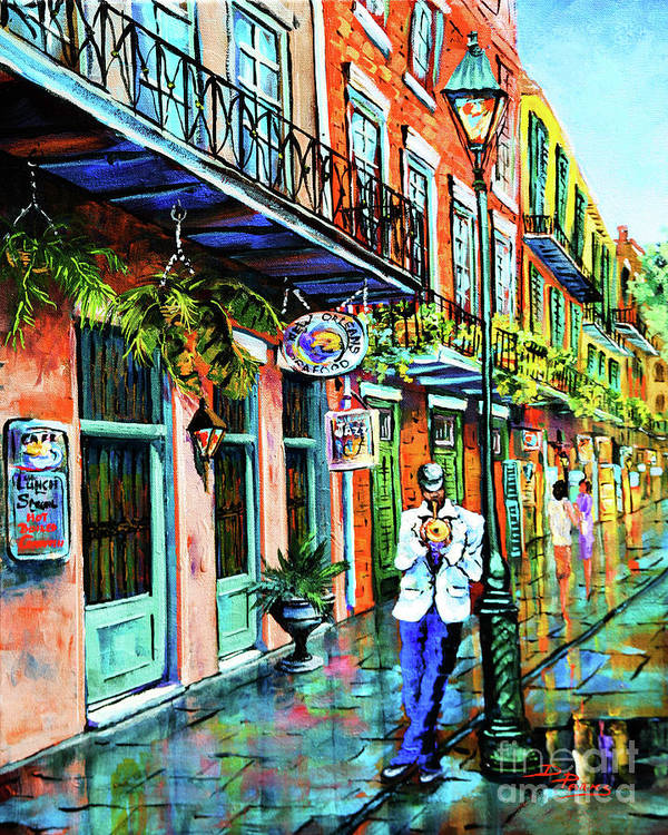 New Orleans Art Art Print featuring the painting Jazz'n by Dianne Parks