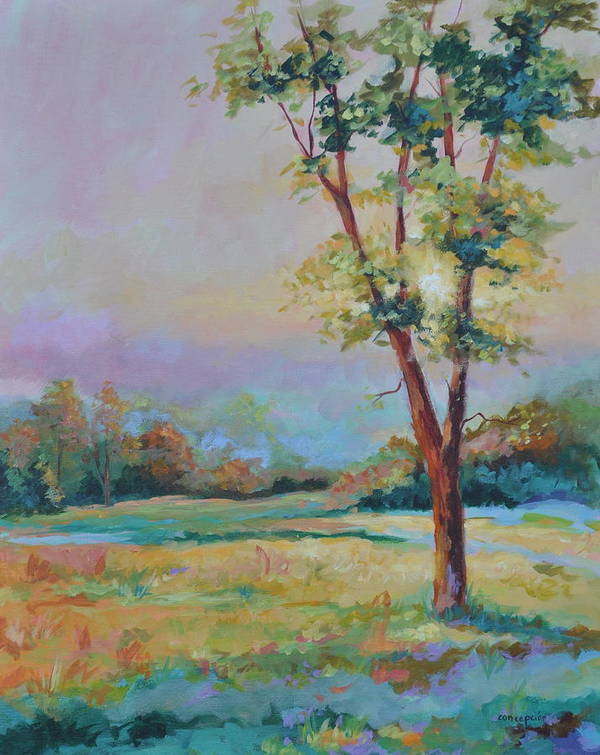 Pasture Art Print featuring the painting Late Afternoon Dance by Ginger Concepcion
