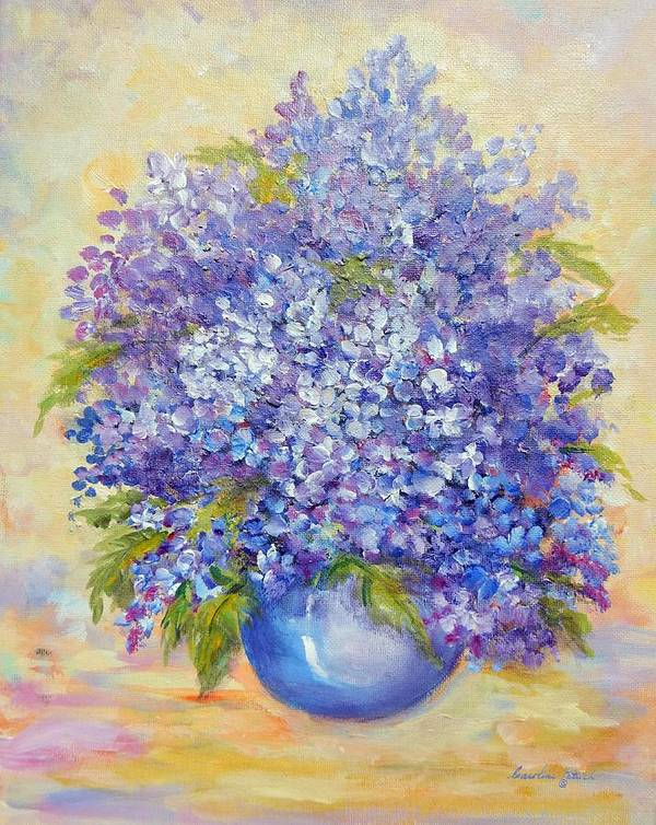 Plants Art Print featuring the painting Lavender by Caroline Patrick