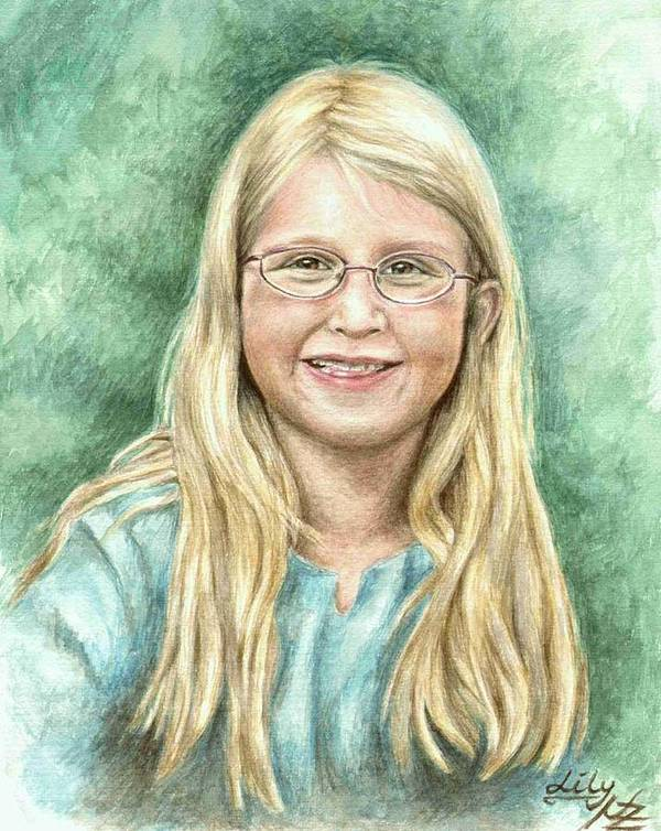 Girl Art Print featuring the painting Lily by Nicole Zeug