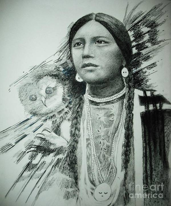 Art Print featuring the mixed media Litte Owl by Lynda Clark