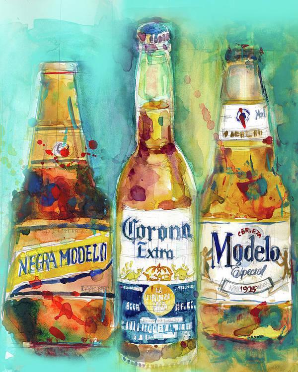 Mexican Beer - Negra Modelo - Corona - Modelo Beers Print from ...