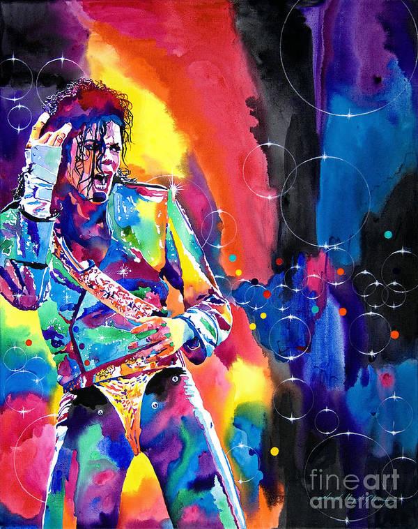 Michael Jackson Art Print featuring the painting Michael Jackson Flash by David Lloyd Glover